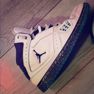 Jordan 1 Purple/White/Teal Speckled paint bottoms